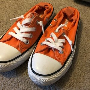 Orange Converse Chuck Taylor Shoreline shoes
